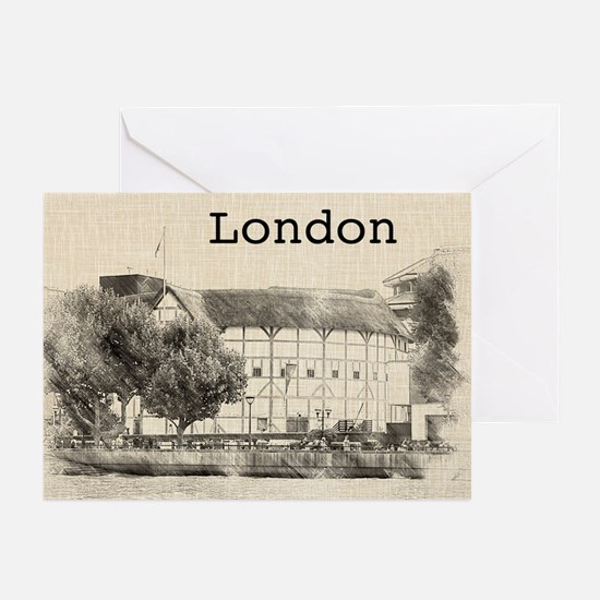 Globe Theater Greeting Cards (Pk of 10)