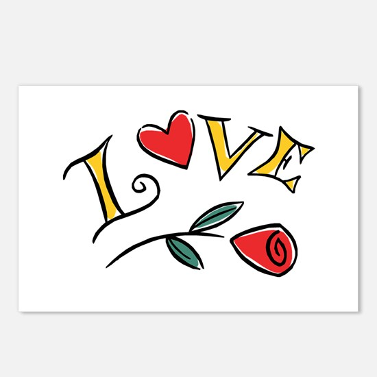 Valentine's Love Postcards (Package of 8)