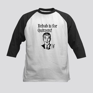 Rehab is for quitters Kids Baseball Jersey