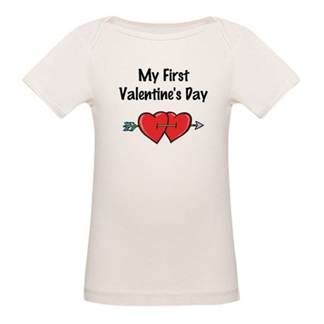 My First Valentine's Day Organic Baby T-Shirt
