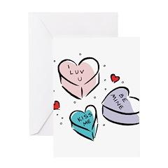 Conversation Hearts Greeting Card