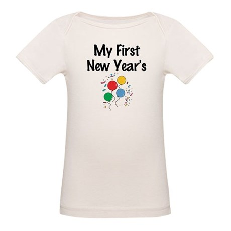 My First New Year's Organic Baby T-Shirt