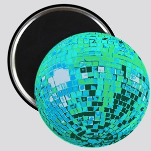Aqua Disco Mirror Ball Magnet