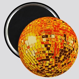Orange Disco Mirror Ball Magnet