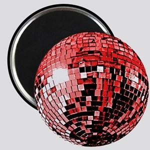 Red Disco Mirror Ball Magnet