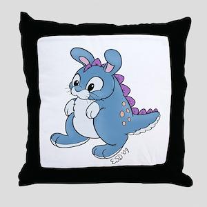 Bunnysaurus Throw Pillow