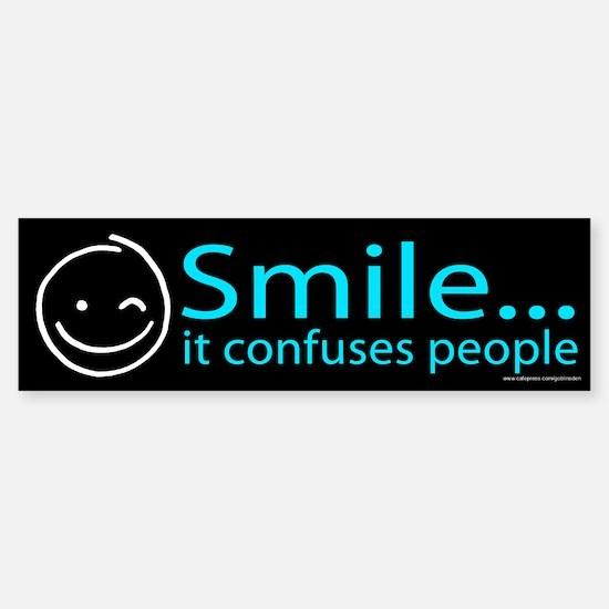 Smile Blue (sticker)