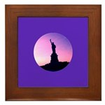 Statue of Liberty New York Framed Ceramic Tile