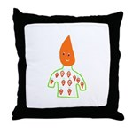 Carrot Head Throw Pillow