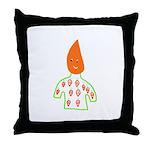 Carrot Head Throw Pillow