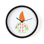 Carrot Head Wall Clock