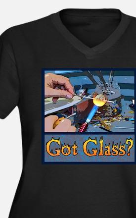 Cool Lampworking Women's Plus Size V-Neck Dark T-Shirt