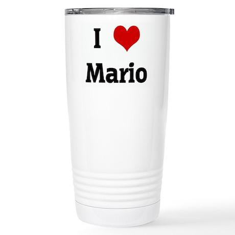 I Love Mario Stainless Steel Travel Mug