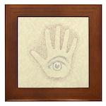 Earthy Petro EyeHand Framed Tile