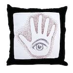 Earthy Petro EyeHand Throw Pillow