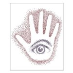 Earthy Petro EyeHand Small Poster