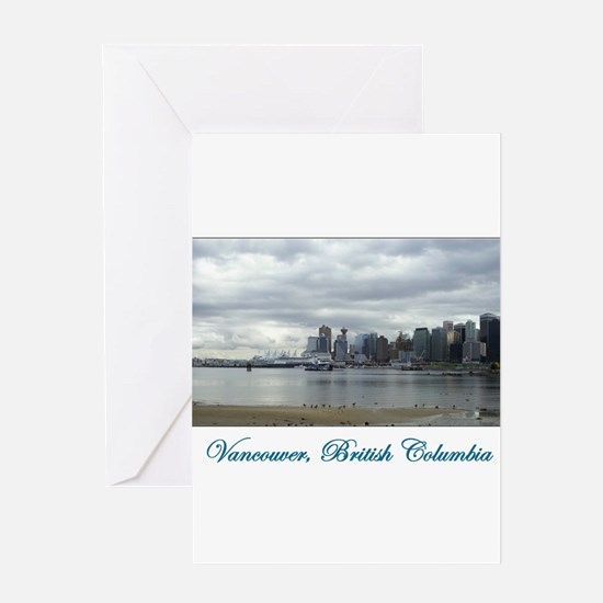 Downtown Vancouver BC Greeting Card