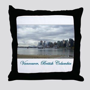 Downtown Vancouver BC Throw Pillow