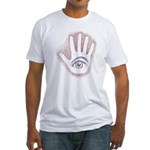 Earthy Petro EyeHand Fitted T-Shirt