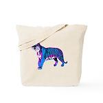 COREY TIGER 1980s RETRO NEON TIGER TOTE BAG
