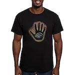 Rainbow Petro EyeHand Men's Fitted T-Shirt (dark)