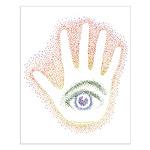 Rainbow Petro EyeHand Small Poster