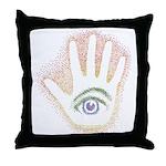Rainbow Petro EyeHand Throw Pillow