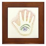 Rainbow Petro EyeHand Framed Tile