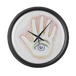 Rainbow Petro EyeHand Large Wall Clock