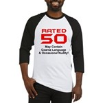 Funny 50th Gifts, Rated 50 Baseball Jersey