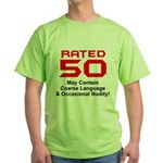Funny 50th Gifts, Rated 50 Green T-Shirt