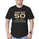 Funny 50th Gifts, Rated 50 Men's Fitted T-Shirt (d