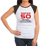 Funny 50th Gifts, Rated 50 Women's Cap Sleeve T-Sh