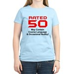 Funny 50th Gifts, Rated 50 Women's Light T-Shirt