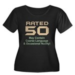 Funny 50th Gifts, Rated 50 Women's Plus Size Scoop
