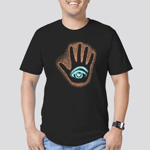 Earthy Petro EyeHand Men's Fitted T-Shirt (dark)
