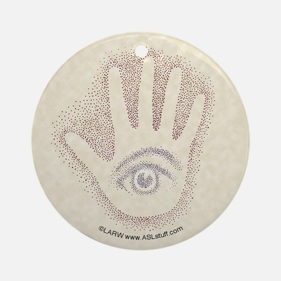 Earthy Petro EyeHand Ornament (Round)