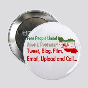 """Save a Protester! Tweet, Film 2.25"""" Button"""
