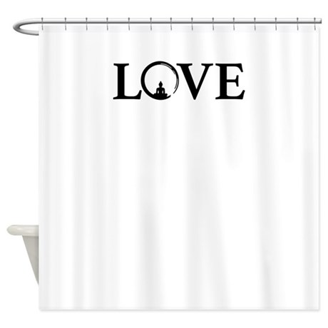 Love Meditation Shower Curtain by Admin_CP127547237