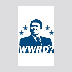 What Would Reagan Do? Rectangle Sticker