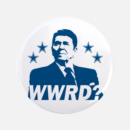 """What Would Reagan Do? 3.5"""" Button"""