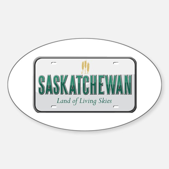 Saskatchewan Oval Decal
