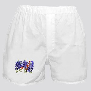 BLUEBONNETS AND PAINTBRUSH Boxer Shorts
