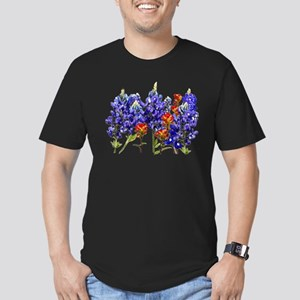 BLUEBONNETS AND PAINTBRUSH Men's Fitted T-Shirt (d
