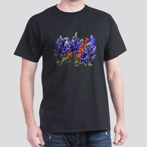 BLUEBONNETS AND PAINTBRUSH Dark T-Shirt