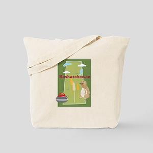 Saskatchewan Map Tote Bag