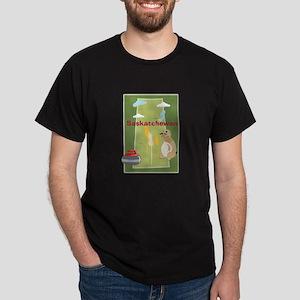 Saskatchewan Map Dark T-Shirt