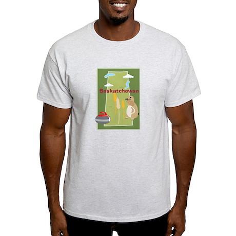 Saskatchewan Map Light T-Shirt