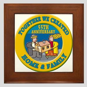 55th Wedding Anniversary Framed Tile