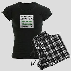 awesome pet waste technician Women's Dark Pajamas